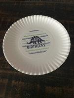 Dinosaur Birthday Party Plate Stickers
