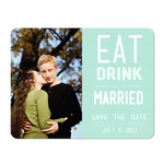 Eat, Drink, and Be Married Save the Date Cards