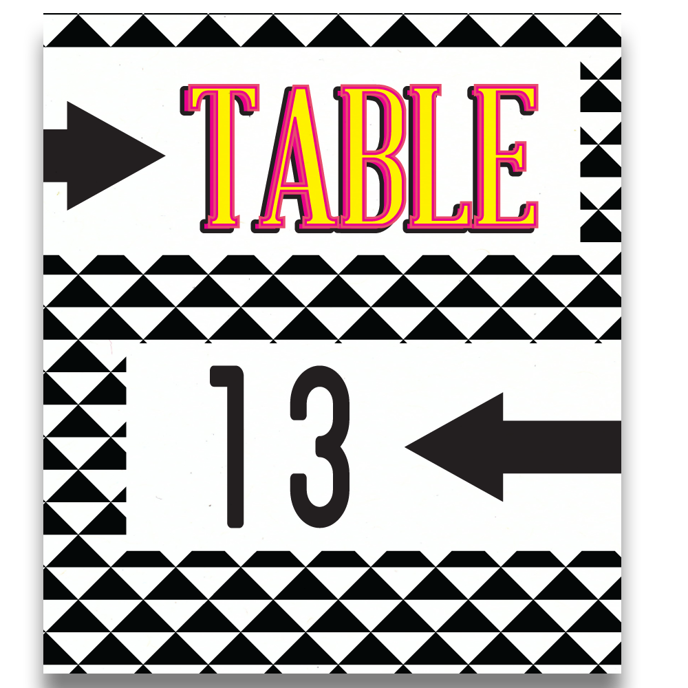 Eight Track Table Number Cards | 90s Party Table Numbers - Lindsay Ann Artistry