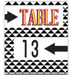 Eight Track Table Number Cards