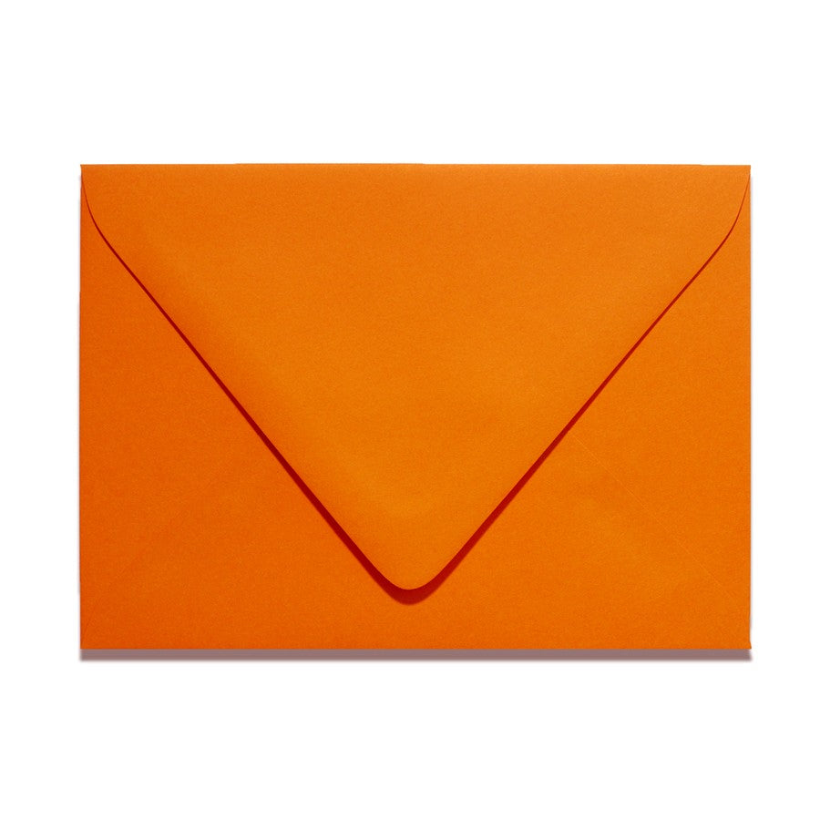 A1 Euro Flapped Envelopes - Orange - Lindsay Ann Artistry