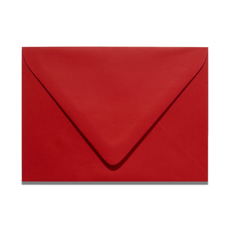 Scarlet Red Wedding Response Card Envelopes | A1 Euro Flapped
