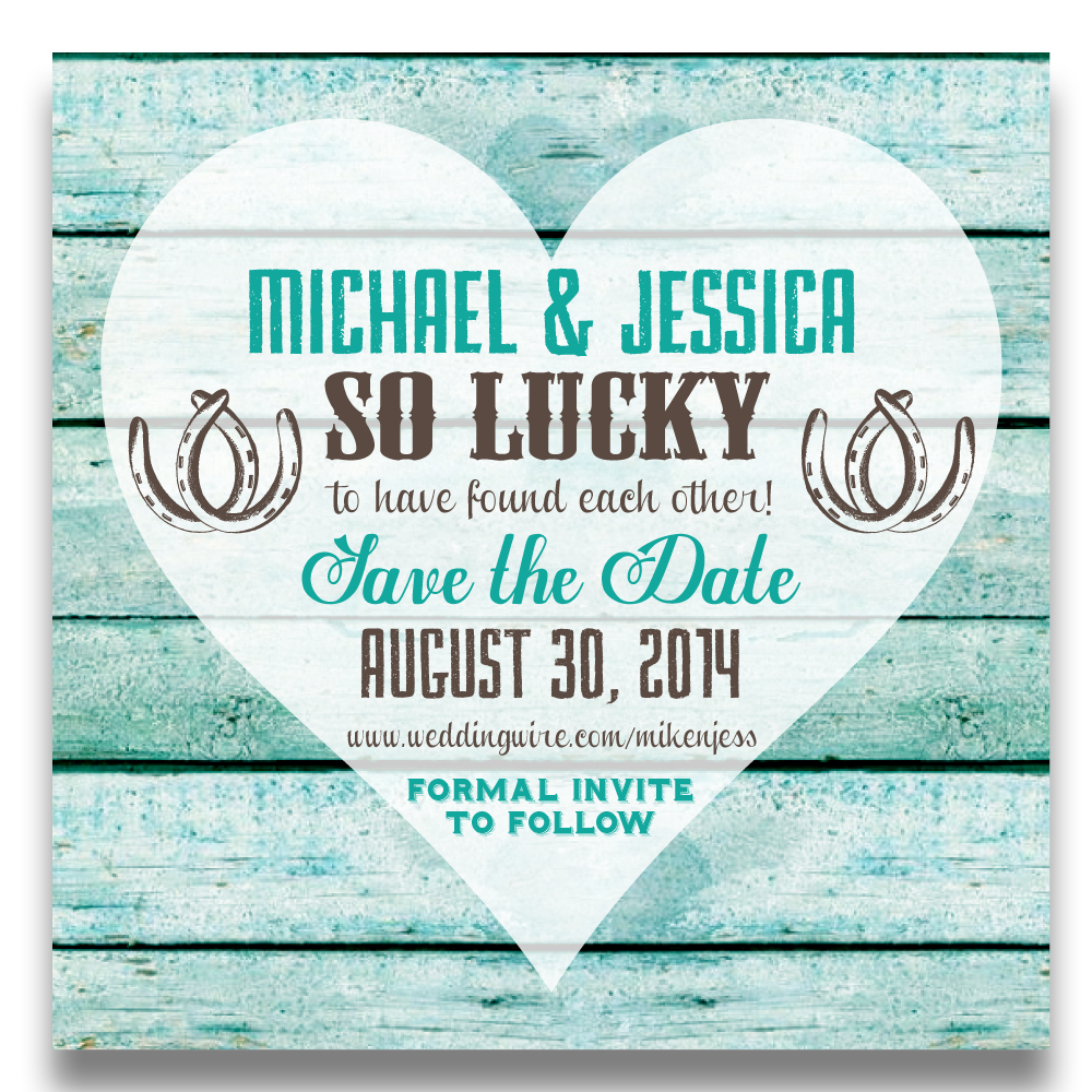 Lucky Horseshoes Save the Date Cards - Lindsay Ann Artistry