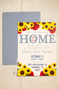 There's No Place Like (our new) Home Housewarming Party Invitations, Moving Announcements