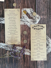 Vintage Inspired Wedding Ceremony Programs - Lindsay Ann Artistry