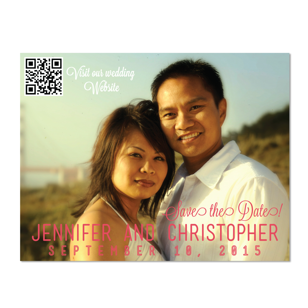 Simple Photo Save the Date Card - Lindsay Ann Artistry