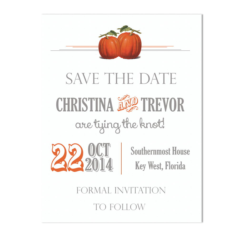 Pumpkin Carnival Save the Date Cards with Matching Envelopes