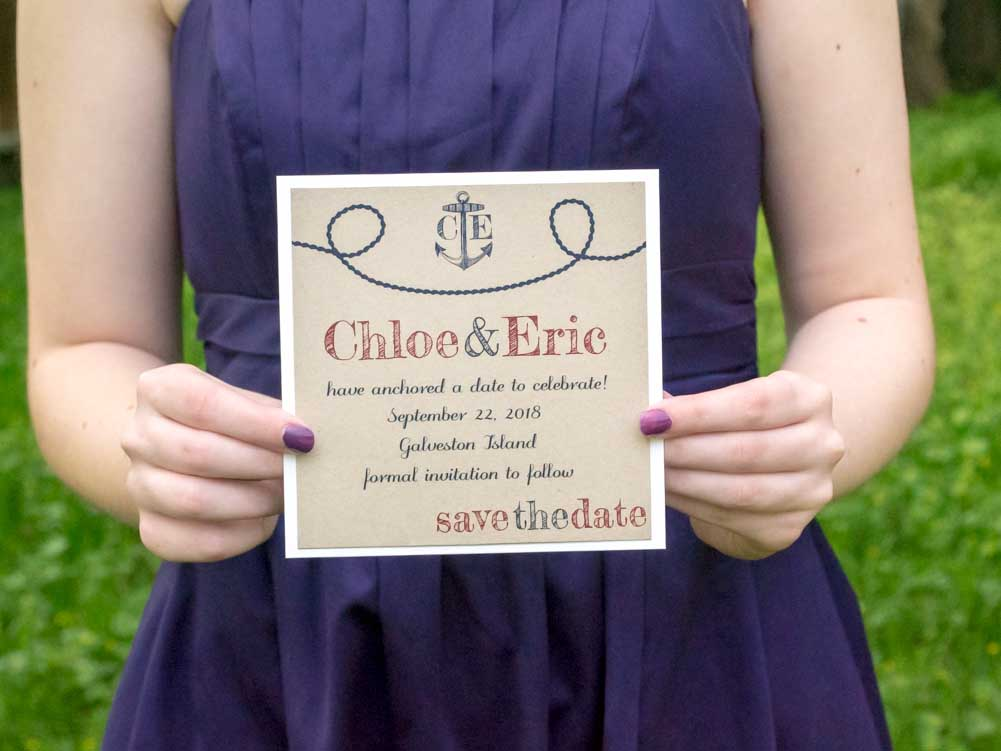 Anchors Aweigh Save the Date Cards - Lindsay Ann Artistry