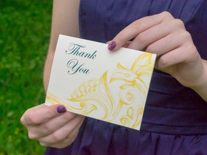 Sandra Thank You Cards with Envelopes