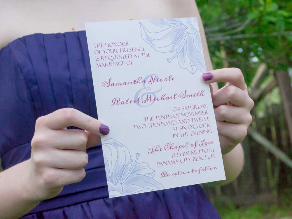 Lily Wedding Invitation Suite