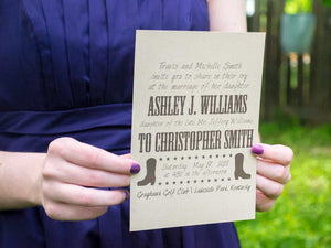 Rodeo Boot Wedding Invitation Suite