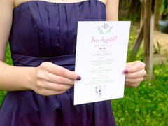 Watercolor Whisk Menu Card - Lindsay Ann Artistry