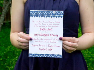 """I Do"" Hearts Wedding Invitation Suite"