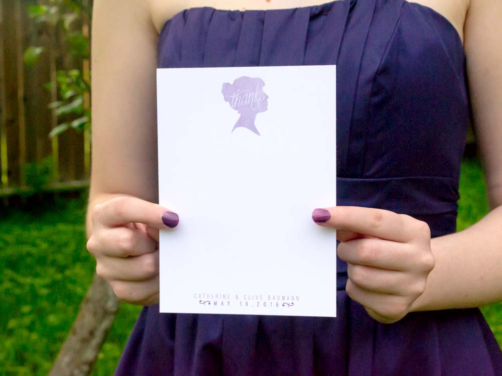 Mikaela Thank You Notecards - Lindsay Ann Artistry