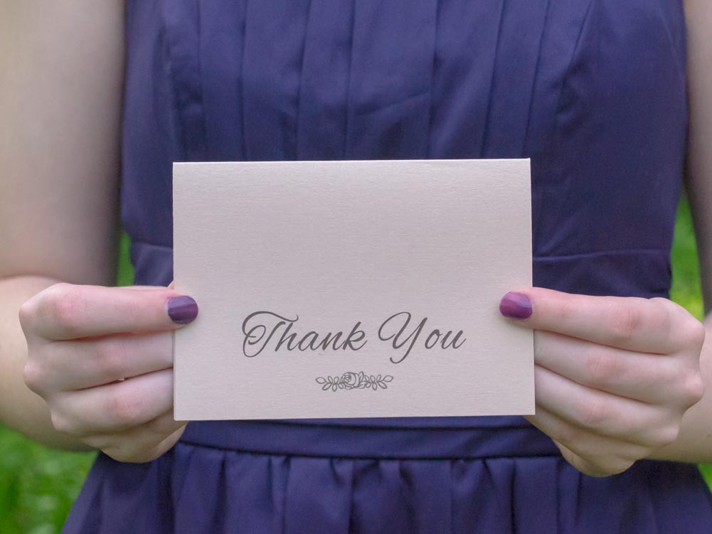Rosie Thank You Cards - Pack of 25 - Lindsay Ann Artistry