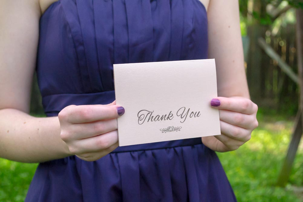 Rosie Thank You Cards - Pack of 25