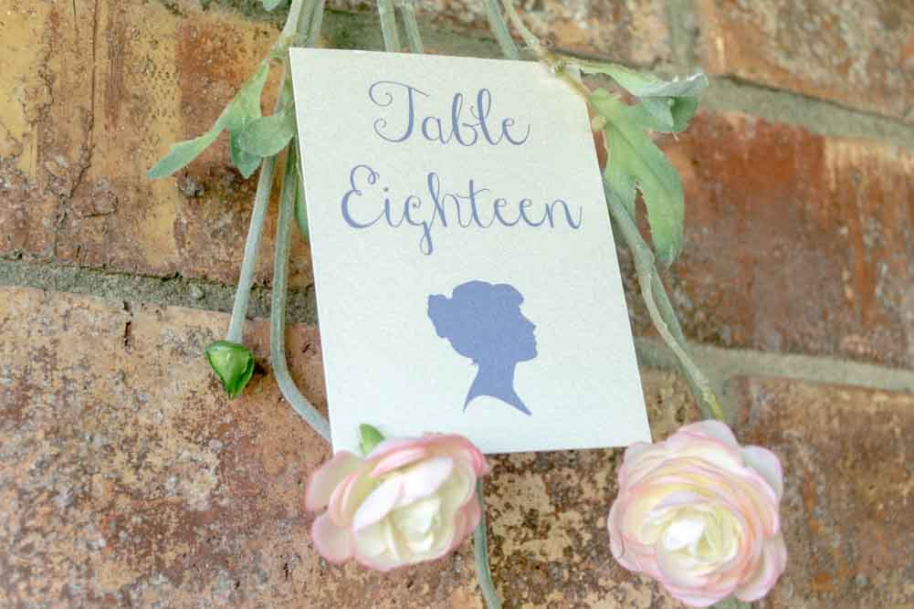 Sarah Table Number Cards with Optional Place Cards - Lindsay Ann Artistry