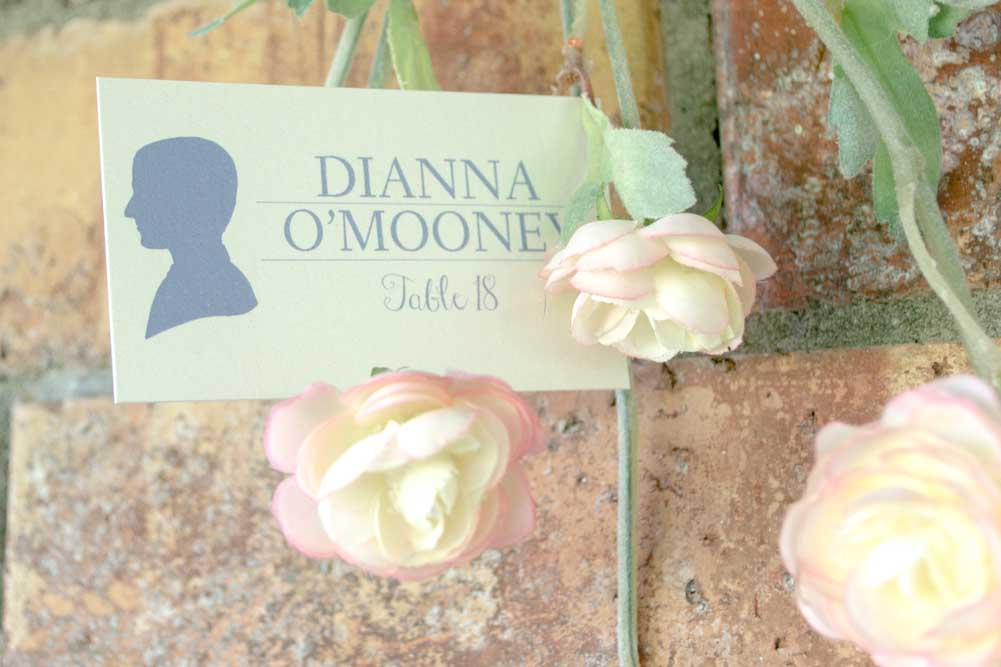 Sarah Table Number Cards with Optional Place Cards