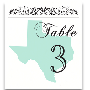 State Pride Table Cards with Optional Place Cards