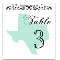 State Pride Table Cards with Optional Place Cards - Lindsay Ann Artistry