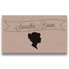Silhouettes Place Cards & Table Number Cards - Lindsay Ann Artistry
