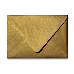 Antique Gold A1 Euro Flapped Envelopes - Gold RSVP Envelopes