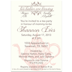 A Baby is Brewing Tea Party Themed Baby Shower Invitations - Lindsay Ann Artistry