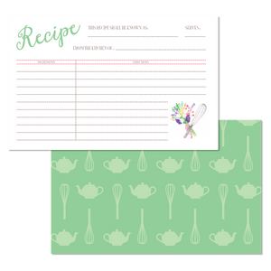 Flowers & Whisk Kitchen Recipe Cards