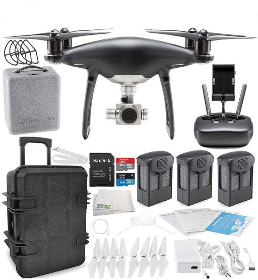 DJI Phantom 4 PRO Obsidian Edition (Black) Travel Case Ultimate Bundle - Drones Collection