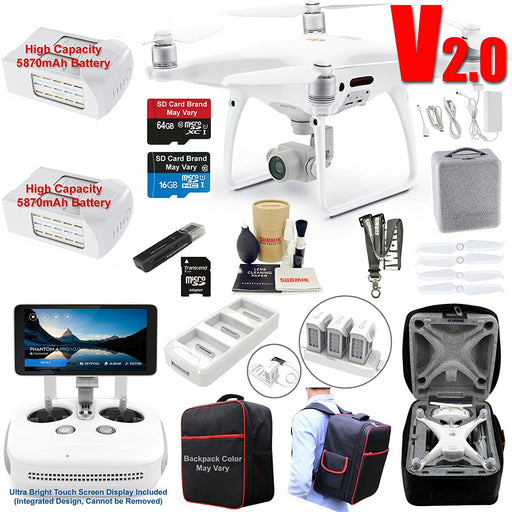 DJI Phantom 4 Pro V2 Drone Quadcopter Bundle Kit - Drones Collection