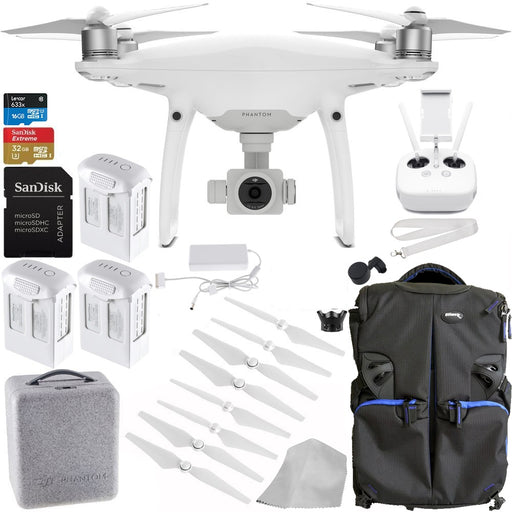 DJI Phantom 4 PRO Quadcopter Drone + Starters Bundle - Drones Collection
