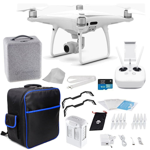 DJI Phantom 4 PRO Quadcopter Drone + Starters On The Go Bundle - Drones Collection