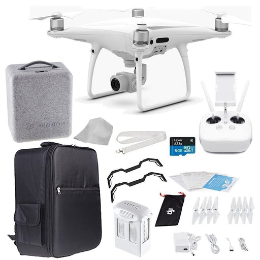 DJI Phantom 4 PRO Quadcopter Drone + Starters Backpacker Bundle - Drones Collection
