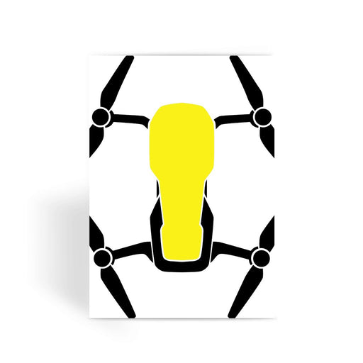 Yellow Drone Greeting Card - Drones Collection
