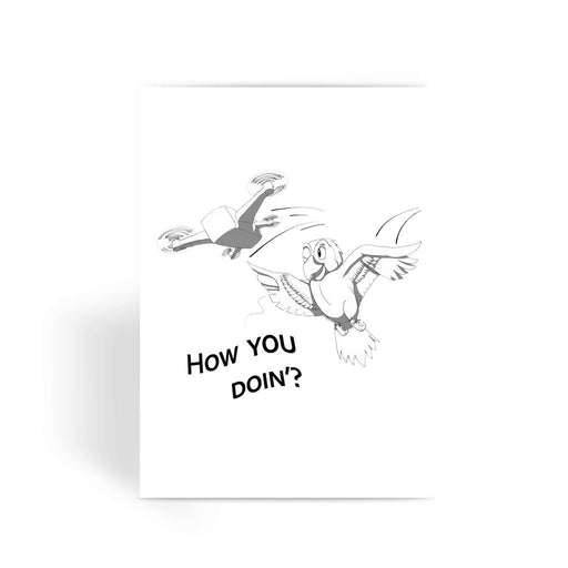 Flirting Bird Greeting Card - Drones Collection