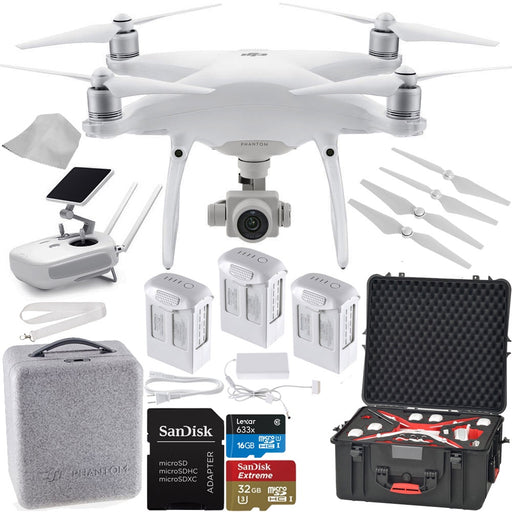 DJI Phantom 4 PRO Quadcopter Drone - Super Deluxe Bundle With Hard Case - Drones Collection