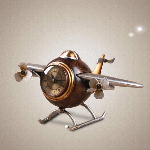 Vintage Classic aircraft resin clock - Drones Collection