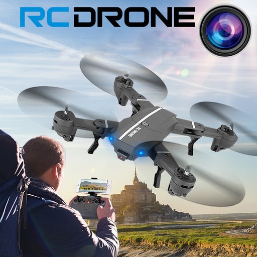 FPV RC Quadcopter Pocket Drone - Selfie, Foldable, High Altitude Hold, HD Camera, and WIFI - Drones Collection