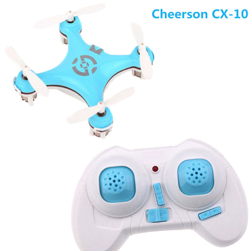 Mini RC Quadcopter Drone For Cheerson CX-10 2.4G 4CH 6-Axis Helicopter Remote Control With Led Light Children Toys Gift - Drones Collection