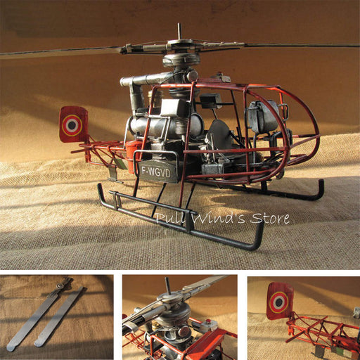 Vintage French iron helicopter Model - Drones Collection
