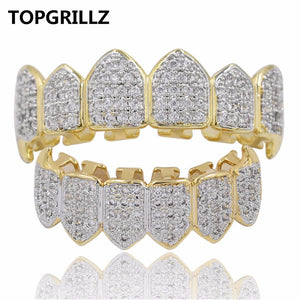 14k Gold Plated Zirconia HIP HOP Grill! ICED OUT