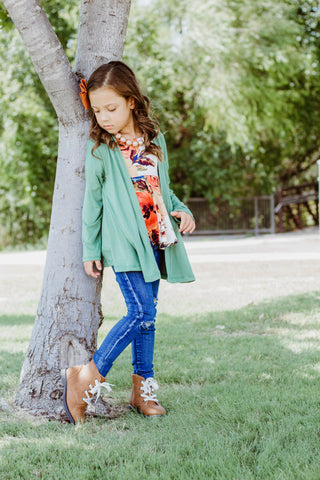 Scarlett Cardigan - Kelly Green