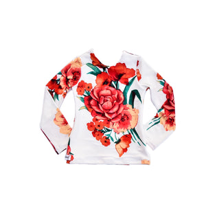 Fitted Top - Orange Floral [Limited Edition]
