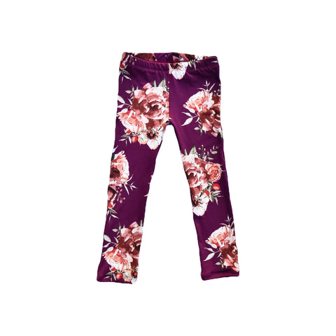 Leggings - Plum Floral