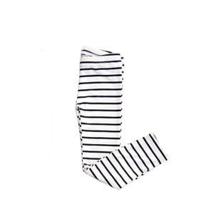 Leggings - Ivory Black Stripes