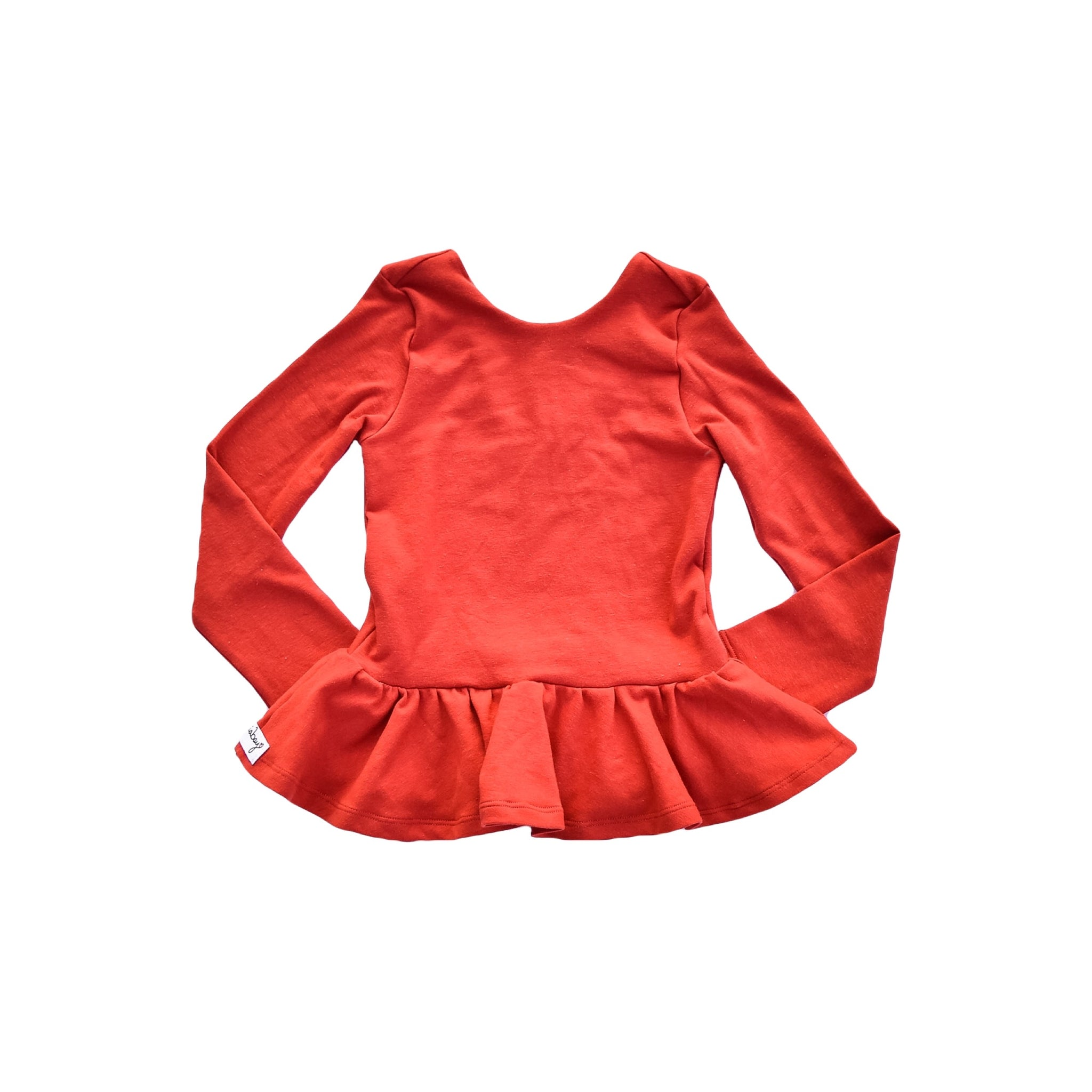 Peplum - Burnt Orange