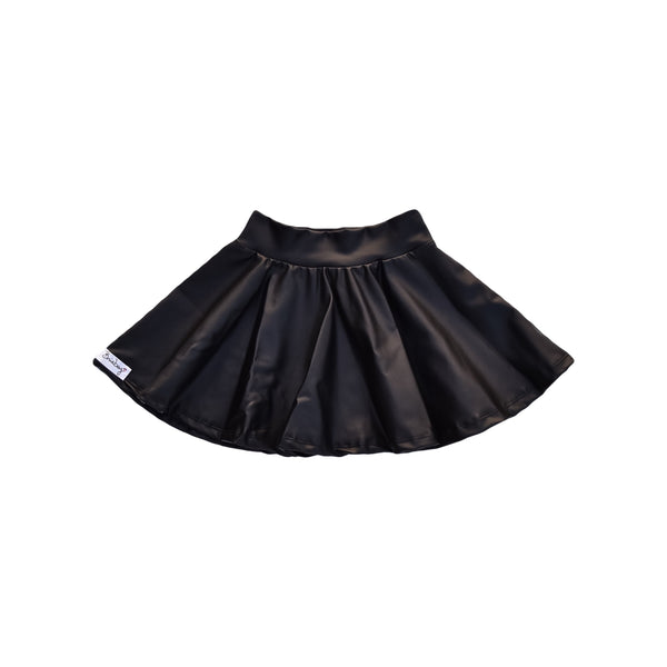 Twirl Skirt - Black Pleather