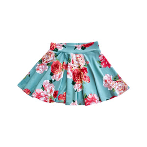Twirl Skirt - Green Floral