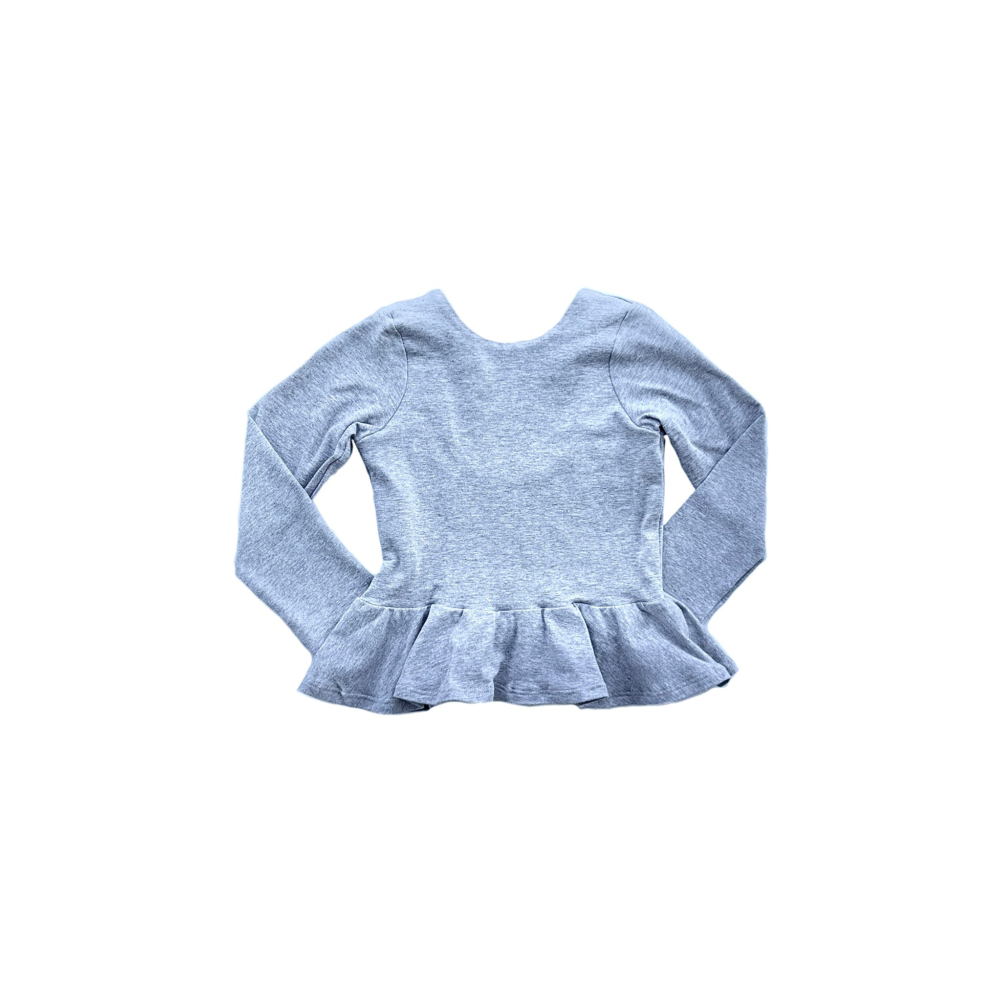 Peplum - Heather Grey