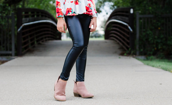 Leggings - Black Pleather